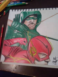Green Arrow  The Flash by Ernest94