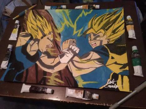 Goku Vs. Vegeta by Ernest94