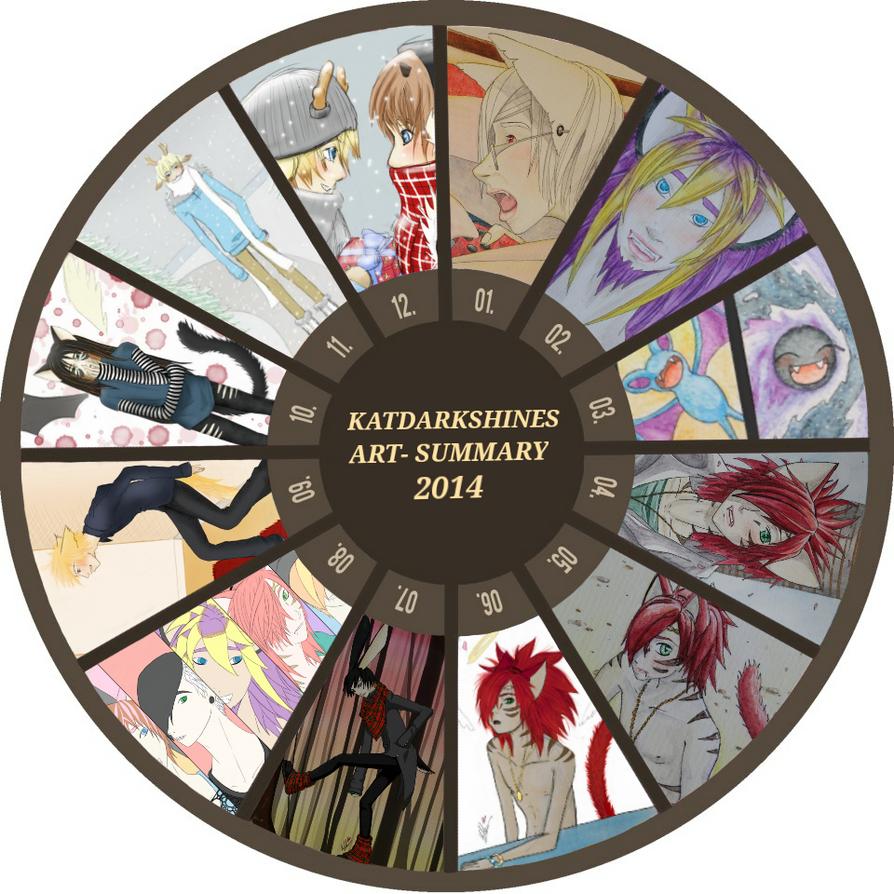 Art Summary 2014 by katdarkshines