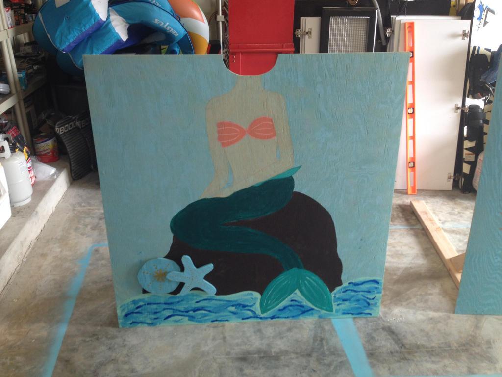 mermaid head frame by Rockonbrad