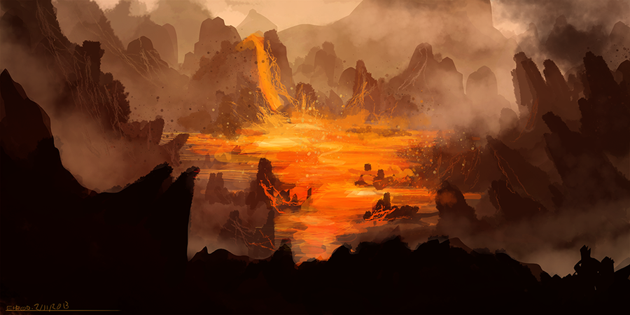 Lava Pools by ehecod