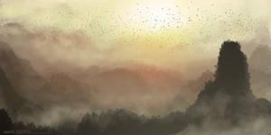 Tropical Sunset (Speedie) by ehecod