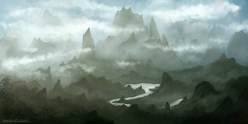 Cloudy Valley II by ehecod