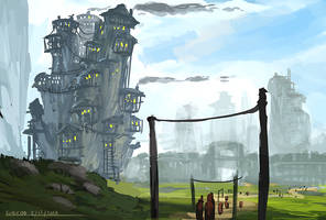 Goblin Houses by ehecod