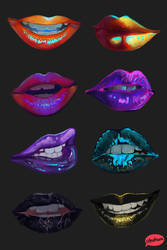 Colorful lips II by teyoliia