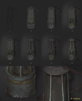 Steps Old Mine Lamp