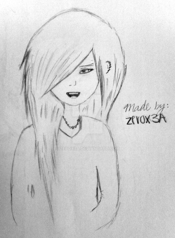 here is my emo drawing by zerox3a on deviantart