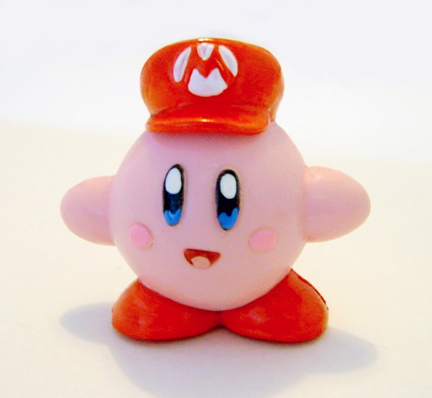 Kirby Mario Figure by vrlovecats