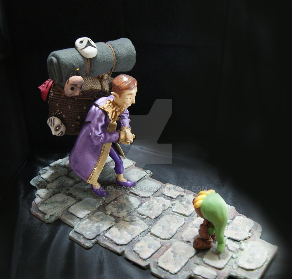 Happy Mask Salesman diorama by vrlovecats