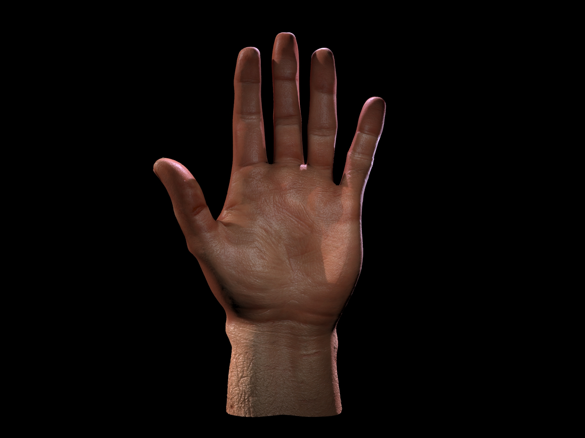 3D Hand test wip 2 by Blodgrass