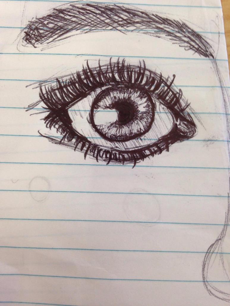 A Beautiful eye drawn by my friend jasmine!!! by briethebee