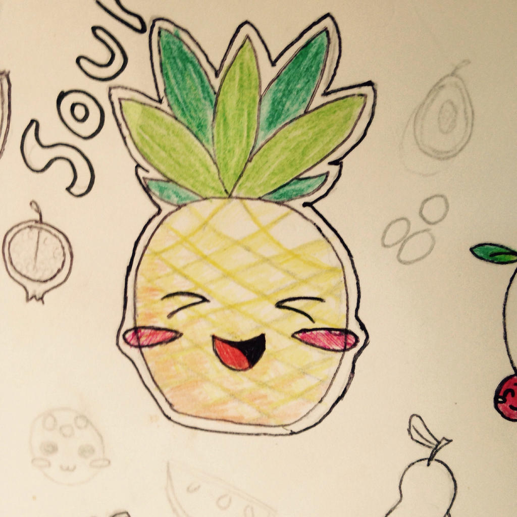 Unfinished pineapple!!! by briethebee
