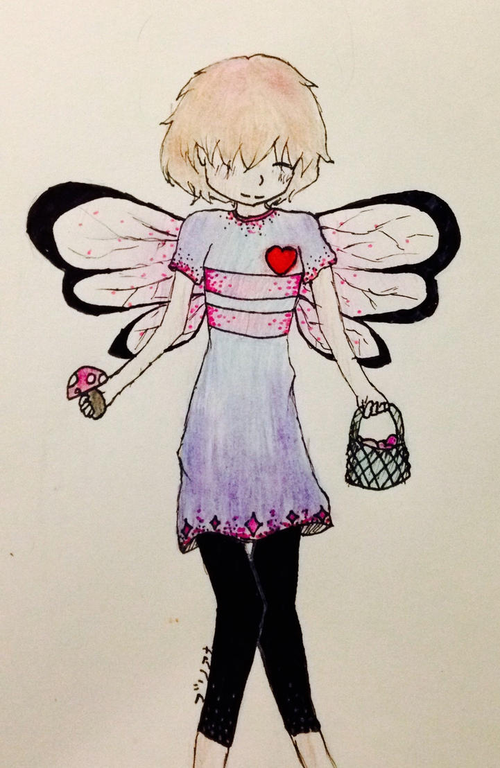 AU Fairy/butterfly frisk!! by briethebee