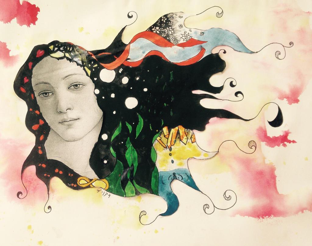 Venus inspired artwork  by briethebee