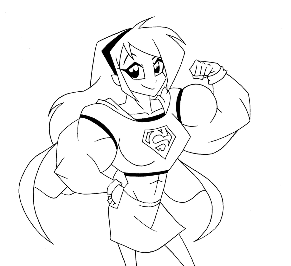 Molly as Supergirl by Minamo21
