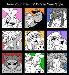 Draw Your Friends OCs - Minamo21's Take by Minamo21