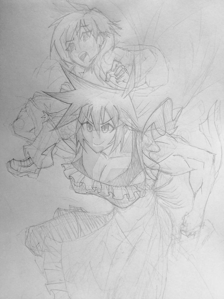 New Ken and Sheila sketch by Minamo21