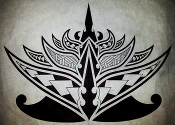 Polynesian Lotus Flower by Cameron-Rutten