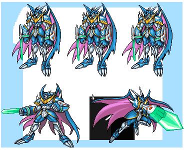 UlforceV-dramonFM battle sheet by Zeromaru-x