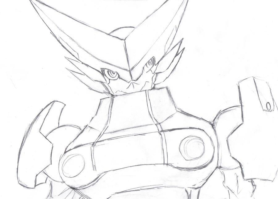 Omega Shoutmon -pencil by Zeromaru-x