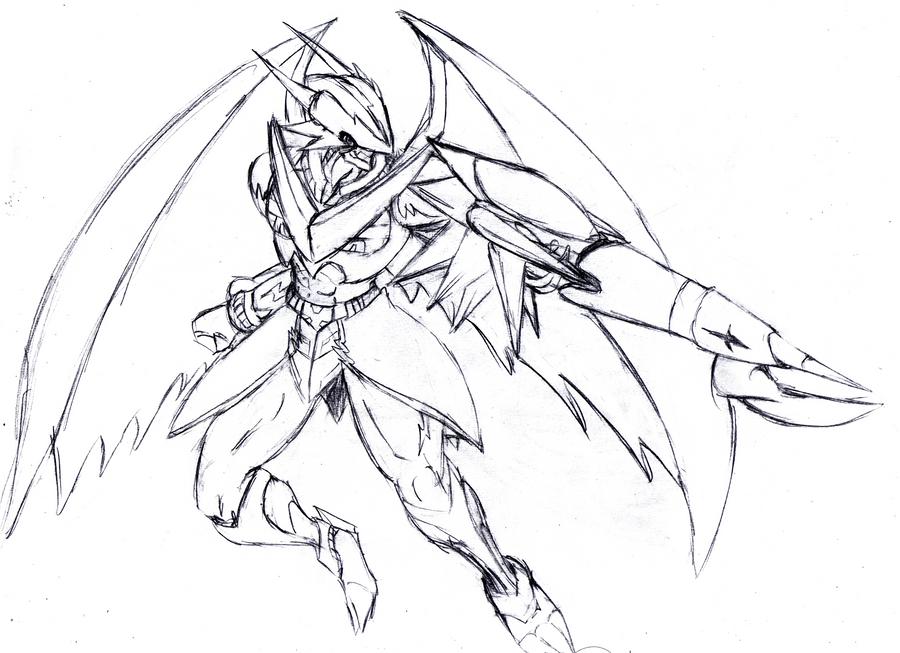 UlforceV-dramon + Spada -sketch by Zeromaru-x