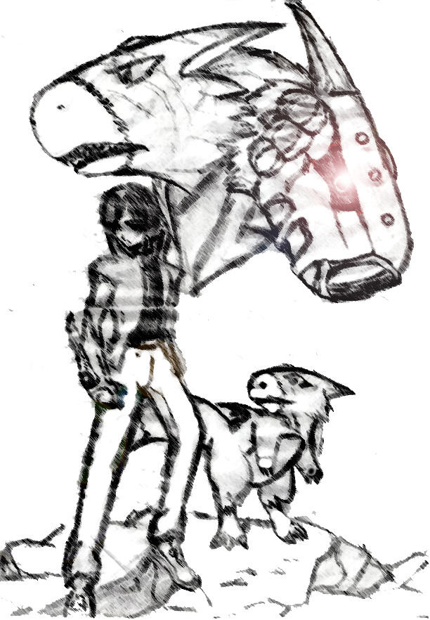 Akira and Dorumon by Zeromaru-x