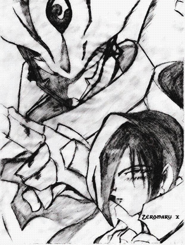 Akira and Grademon by Zeromaru-x