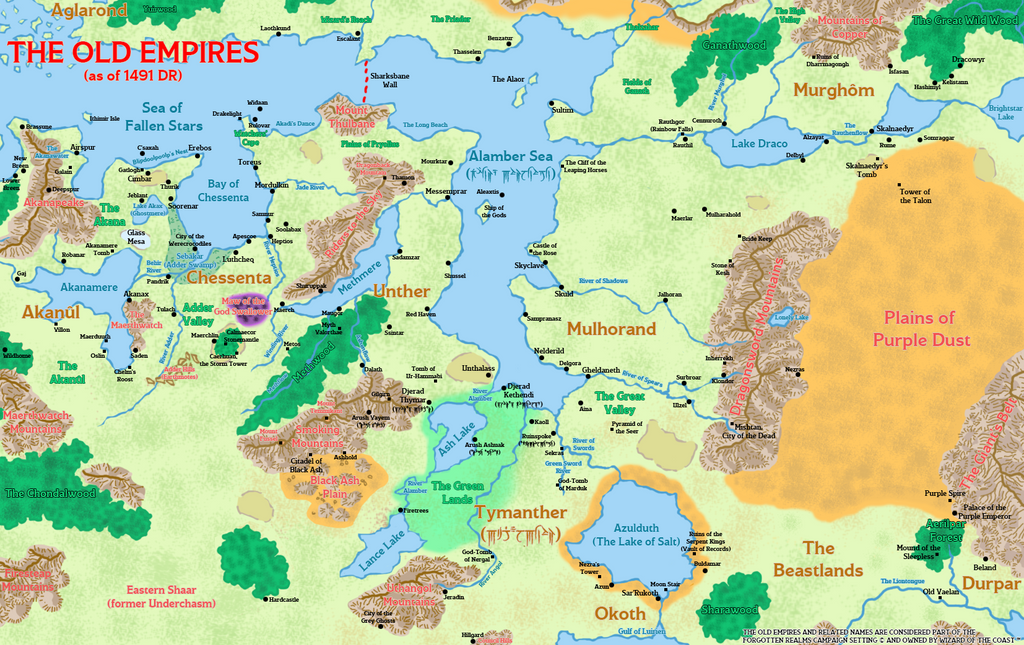 Map of the Old Empires by Zeromaru-x