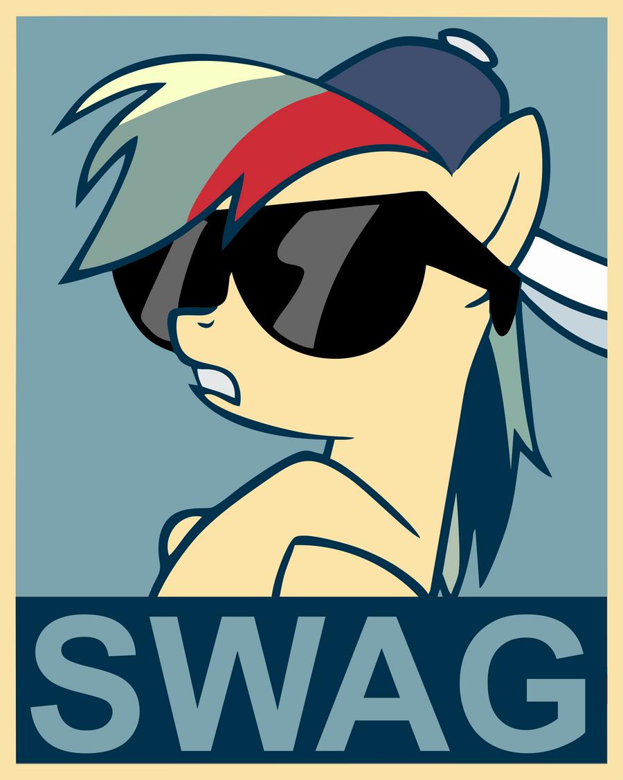 Rainbow dash swag poster by fluffytuzki