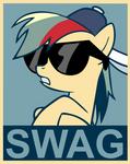 Rainbow Dash Swag poster