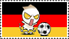 German Soccer Onionhead Stamp by Ibilicious