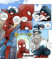 Spider-man and Ladybug by Maracia