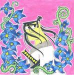 Samurai Jack and Flowers