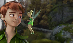 Peter and Tink   Off to Neverland by xLexieRusso2