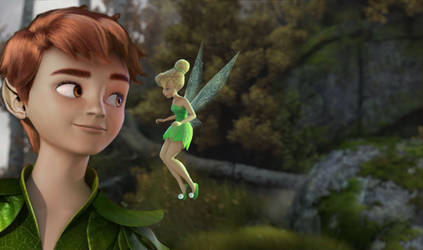 Peter and Tink | Off to Neverland by xLexieRusso2