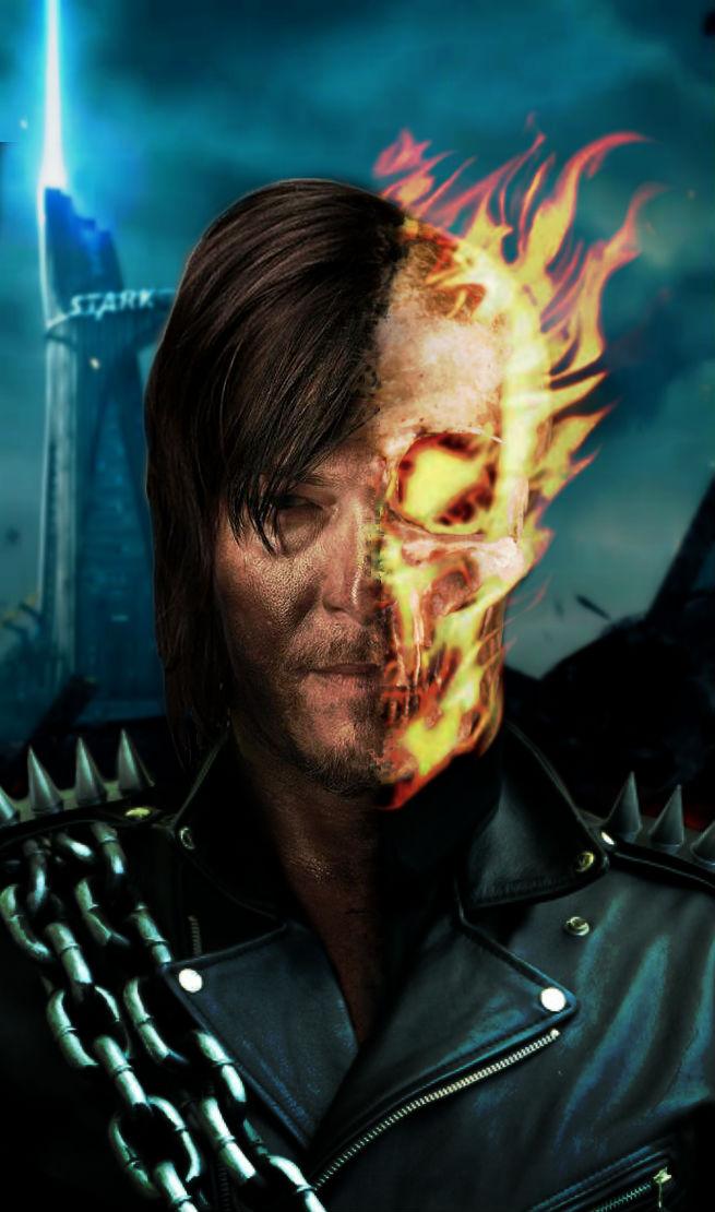Norman Reedus   Ghost Rider by xLexieRusso2 on DeviantArt