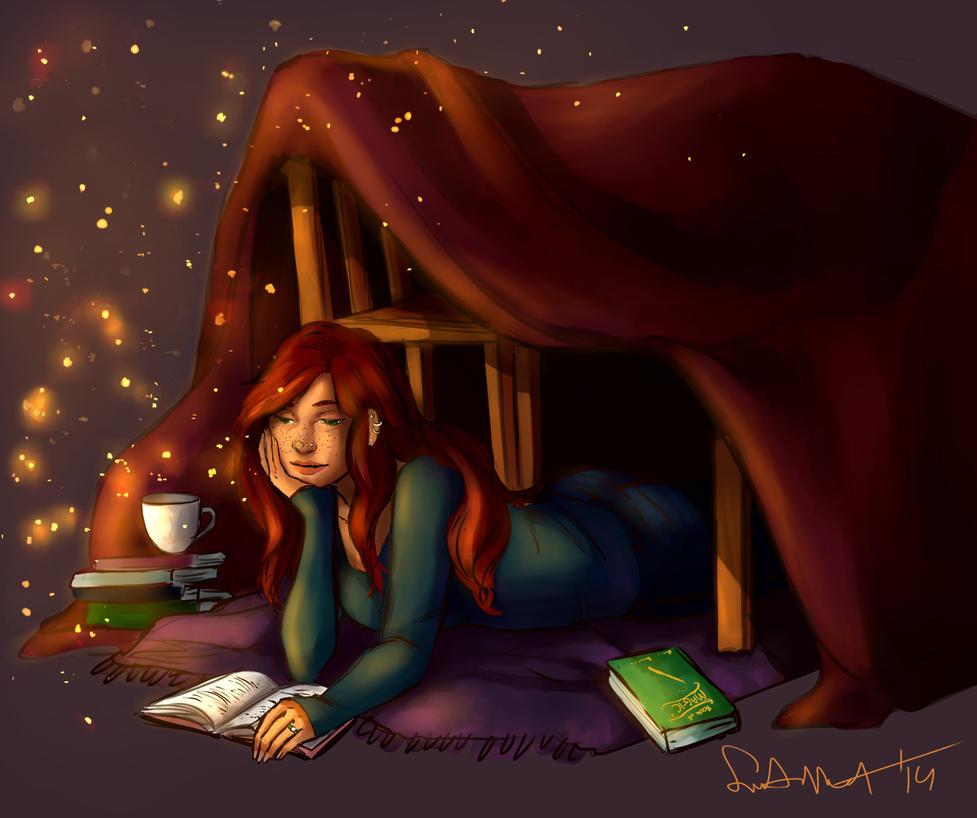 Magical Reading by sakuraartist