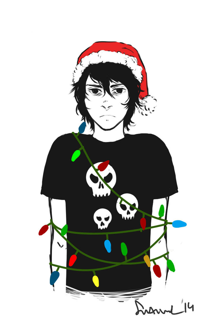 Nico Is Not A Christmas Person by sakuraartist