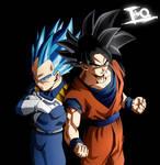Goku and Vegeta, Tremble gods of destruction! (?)