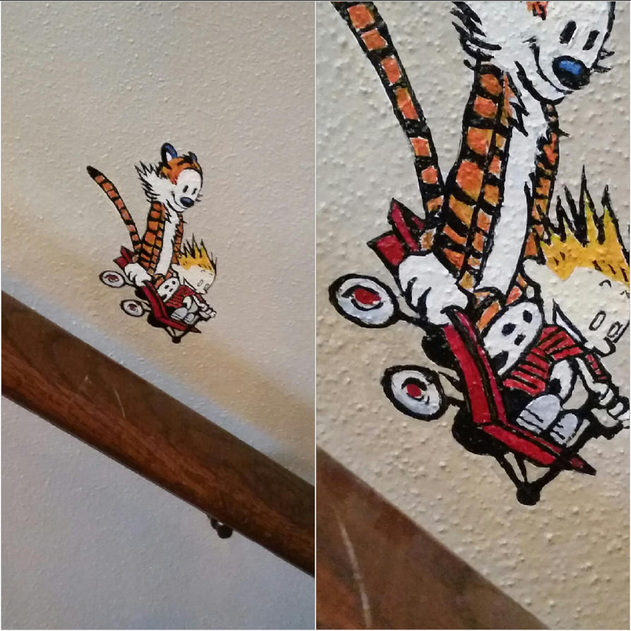 Calvin And Hobbes Mini-mural by maxspider72