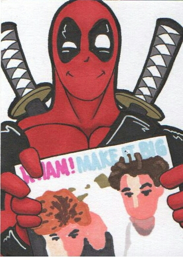 Deadpool Sketchcard by maxspider72