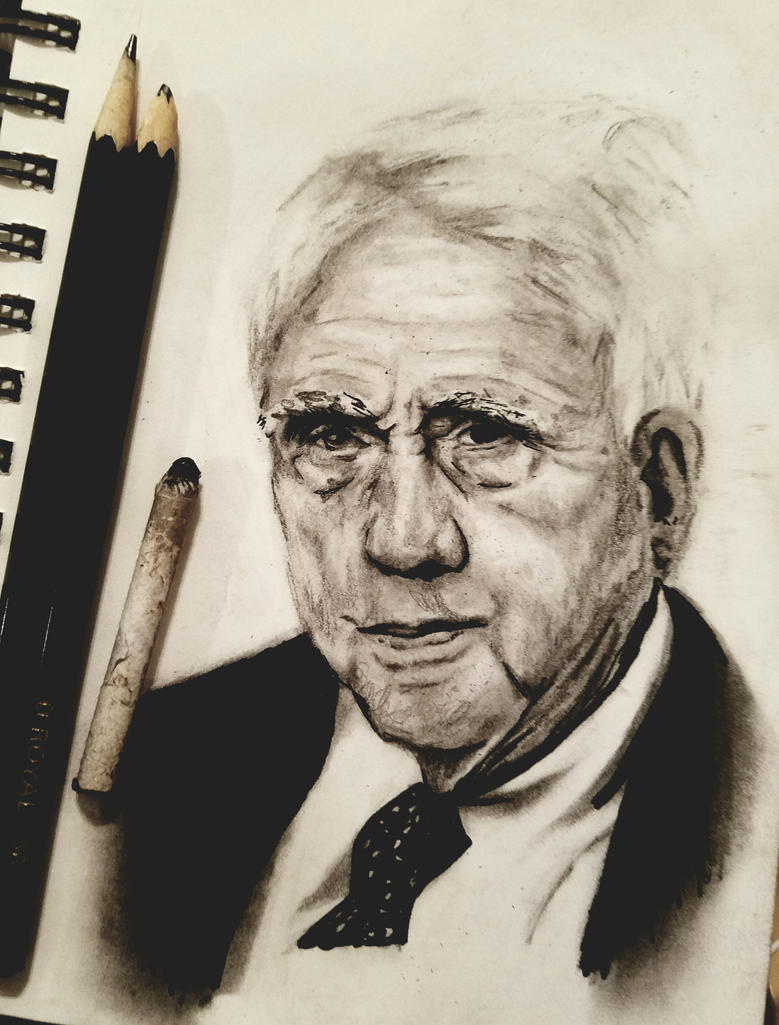 Robert Frost portrait by norareme
