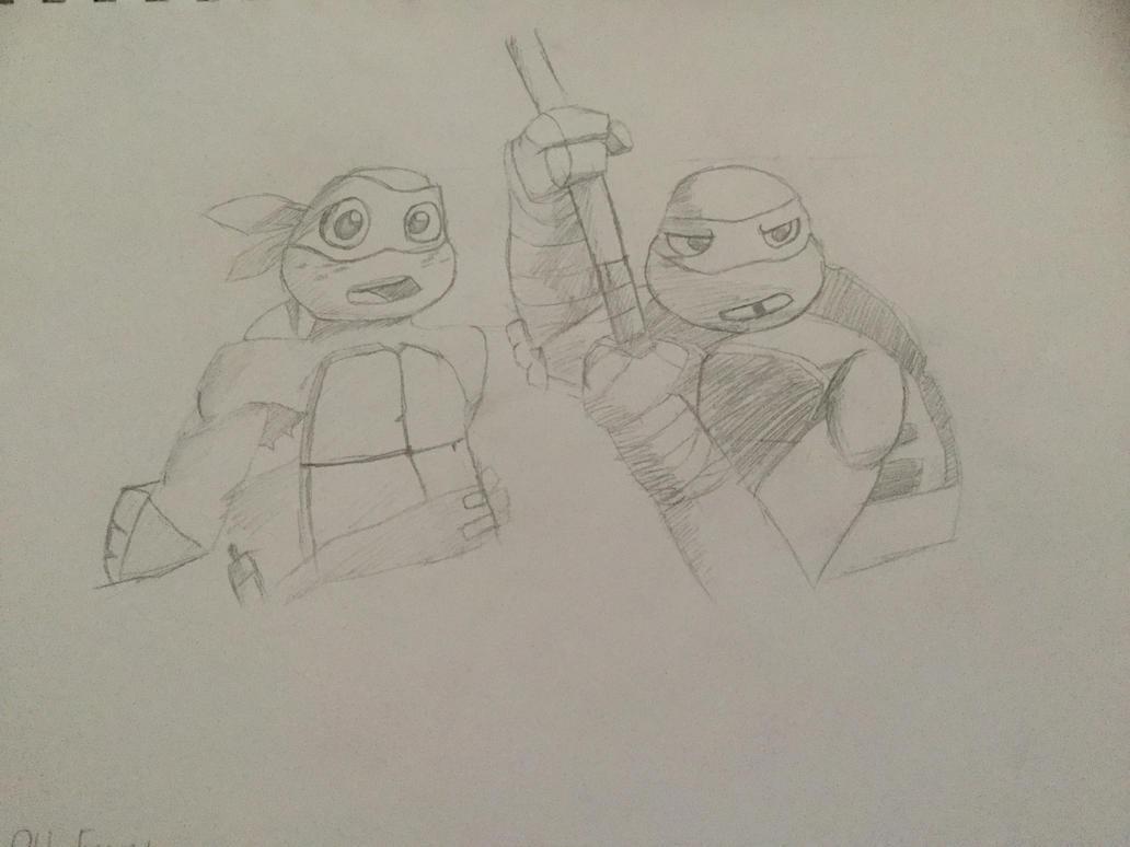 New Friend, Old Enemy TMNT 2012 sketch ^-^ by Ralphiedog