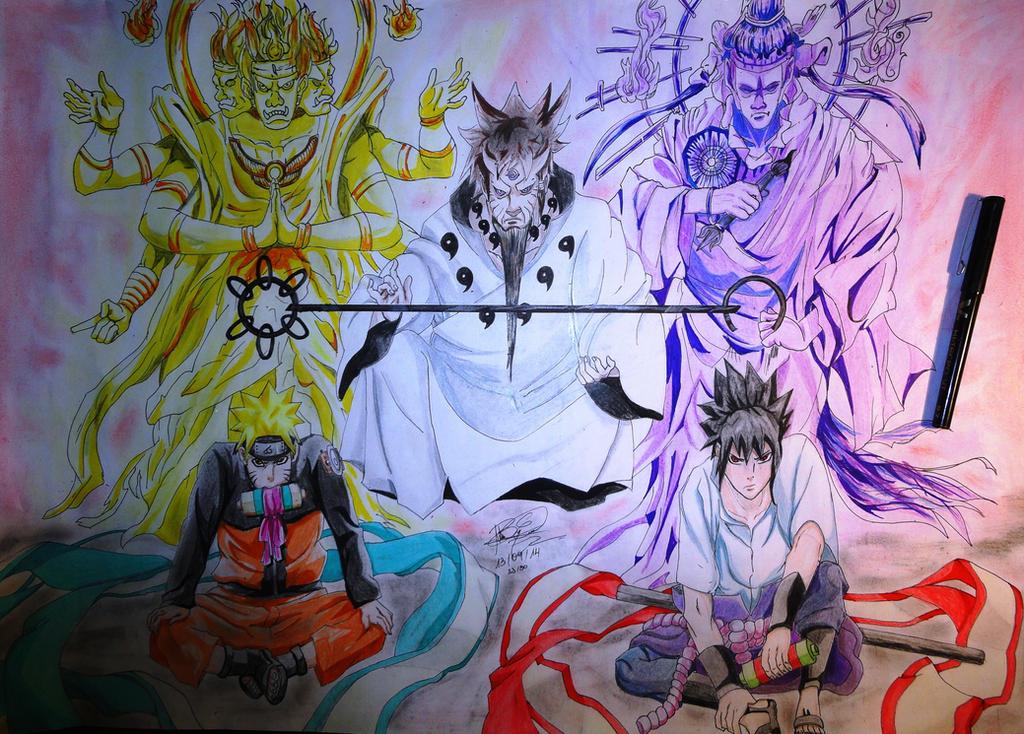 Naruto Modo Sabio De Los 6 Caminos Para Colorear: Naruto Y Sasuke Modo Sabio 6 Caminos By Aldoenciso On