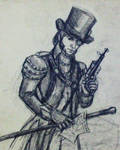 Steampunk Javert by CorvidAngel