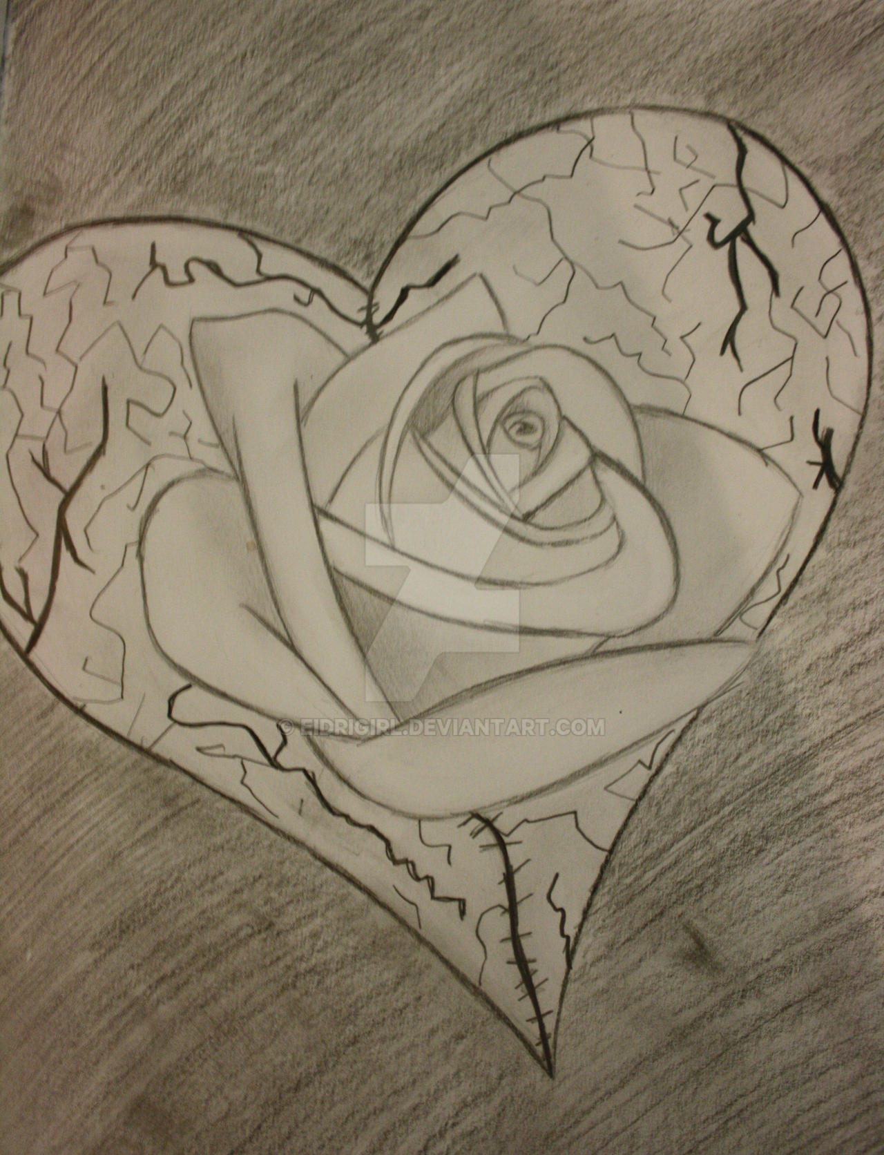 Rose and Broken Heart by eidrigirl on DeviantArt