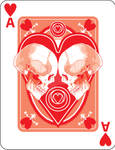 Skulled Ace of Hearts