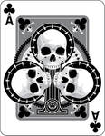 Skulled Aces of Clubs