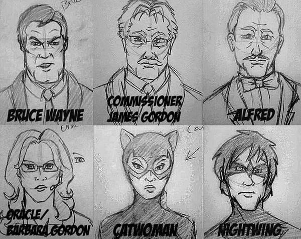 Batman Comic Sketches by Mammal33