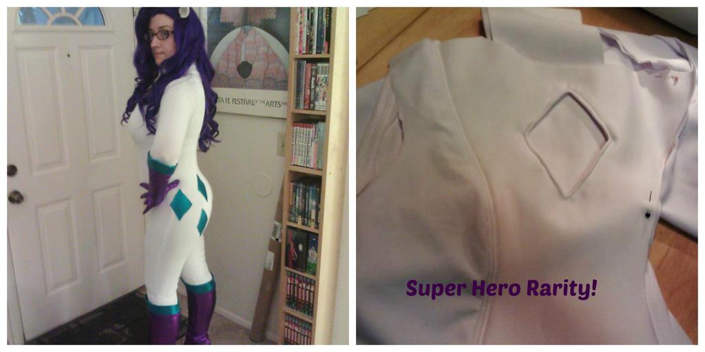Super Hero Rarity progress by Scruffypants